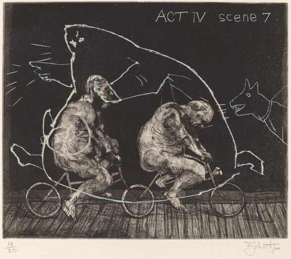 Act IV, Scene 7, from Ubu Tells the Truth