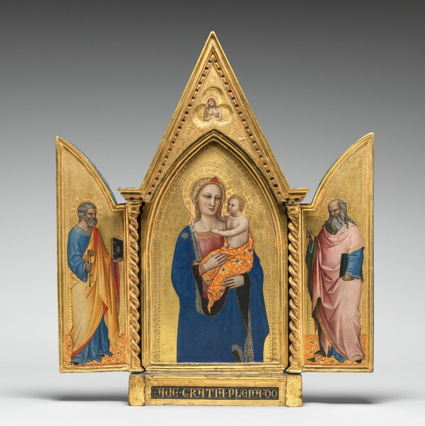 Madonna and Child, with the Man of Sorrows [middle panel]