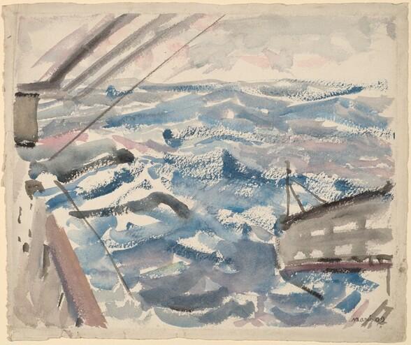 <p>John Marin, Middle of Atlantic, 1909