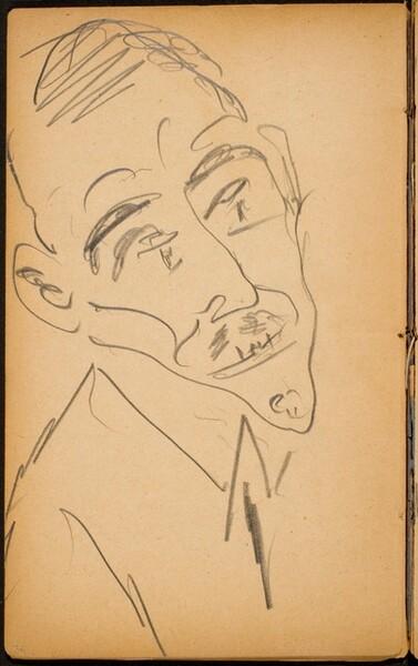 Männliche Bildnisstudie (Male Portrait) [p. 36]