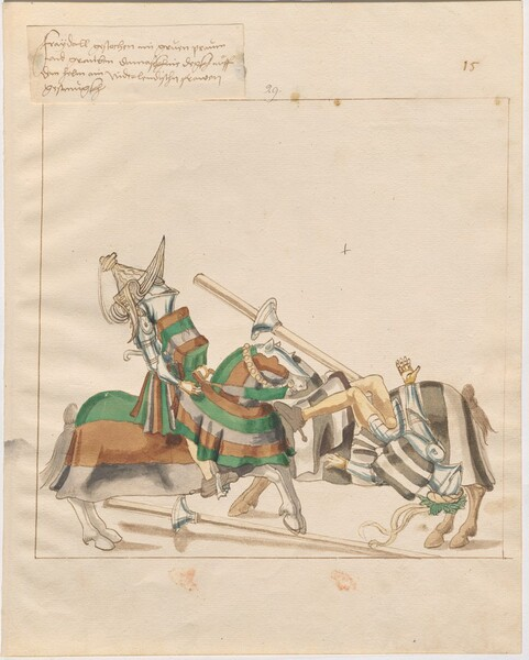 Freydal, The Book of Jousts and Tournaments of Emperor Maximilian I: Combats on Horseback (Jousts)(Volume I): Plate 14