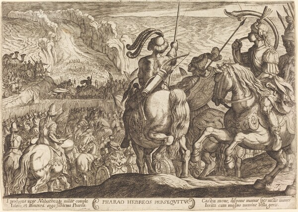 The Egyptians Pursue the Israelites