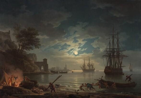 <p>Claude-Joseph Vernet, Moonlight, 1772