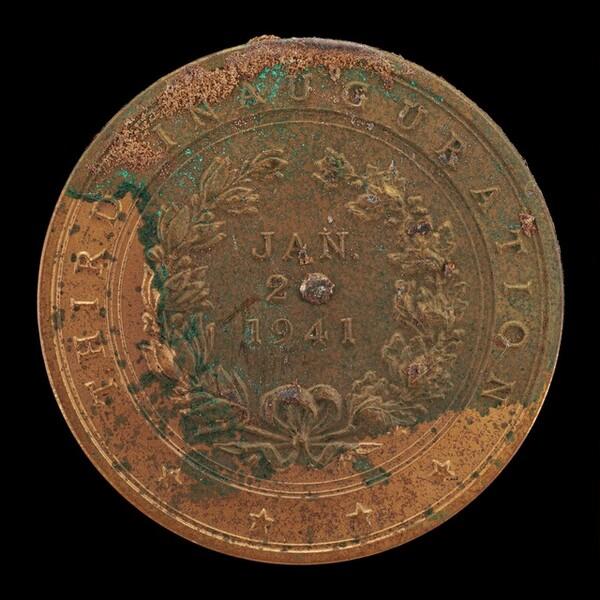Franklin Delano Roosevelt Third Inaugural Medal [reverse]