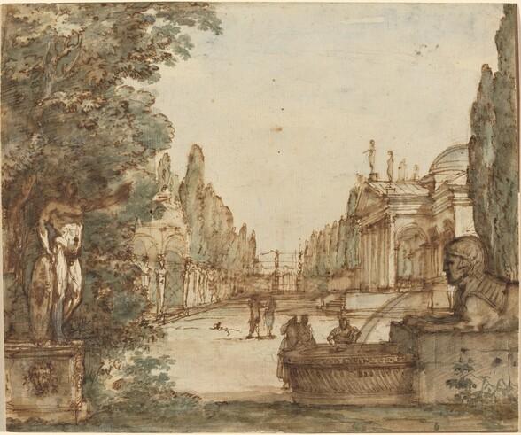 Capriccio with a Palladian Villa