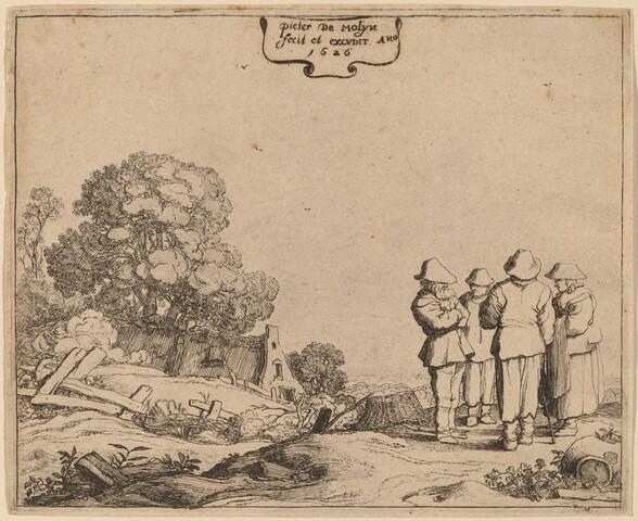Three Peasants and a Woman