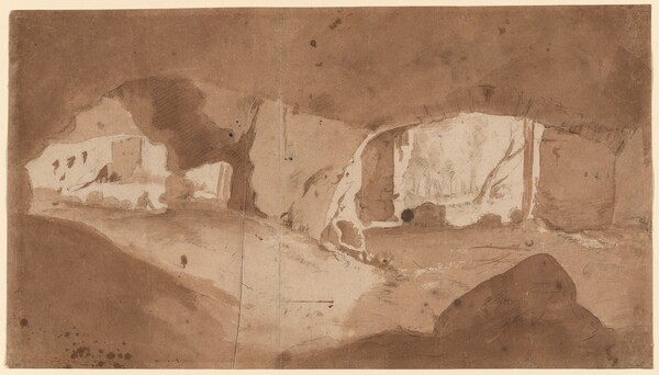 A Grotto (The Stables of the Villa Maecenas, Tivoli?)