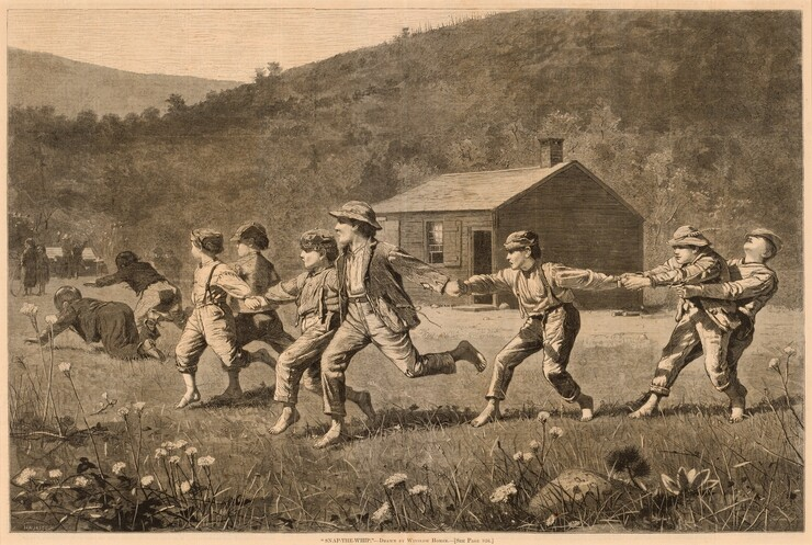 Lagarde after Winslow Homer, Snap-the-Whip, published 1873