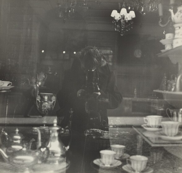 Self-Portrait in Antique Shop Window, rue de l