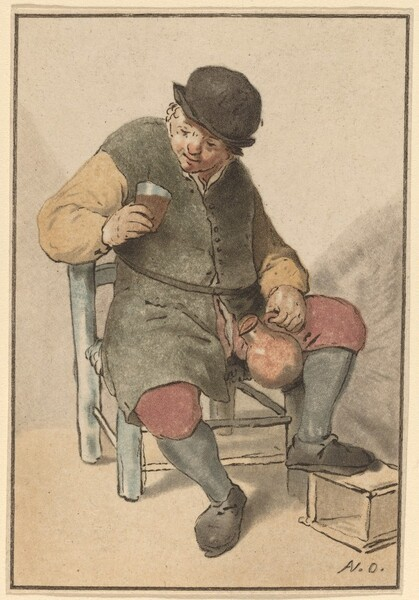 Seated Peasant with Jug