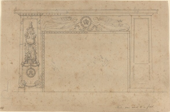 Design for the Chimney Piece in the Throne Room, Buckingham Palace
