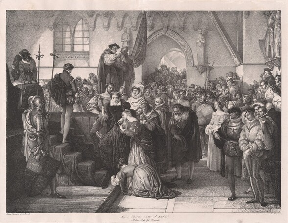 Maria Stuard condotta al patibolo (Mary Stuart Being Led to the Scaffold)