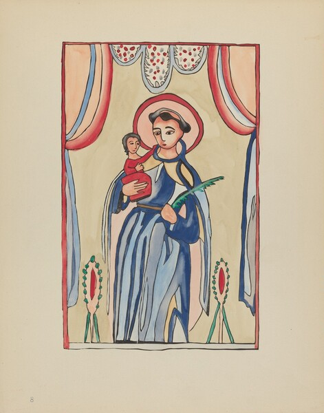 Plate 8: Saint Anthony of Padua: From Portfolio Spanish Colonial Designs of New Mexico