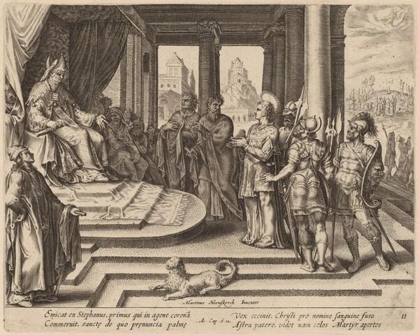 Saint Stephen before the Council