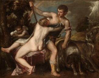 Titian and Workshop, Venus and Adonis, c. 1540s/c. 1560-1565