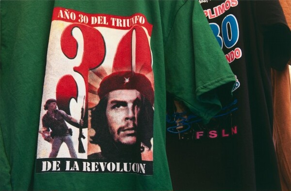T-shirts sold at the thirtieth anniversary celebration in the Plaza of the Revolution, Managua, Nicaragua, July 2009