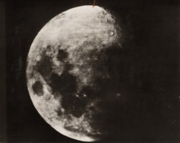 This Photo, Taken of the Moon at the Instant Russian Rocket Hit...