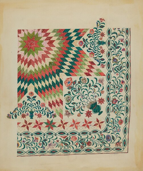 Applique and Patchwork Quilt