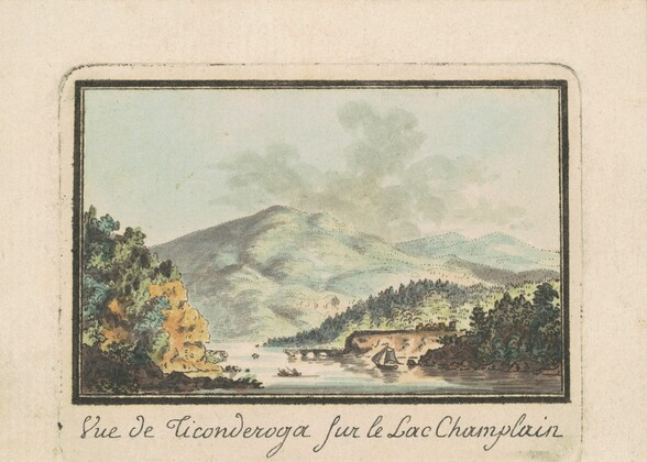 View of Ticonderoga from Lake Champlain