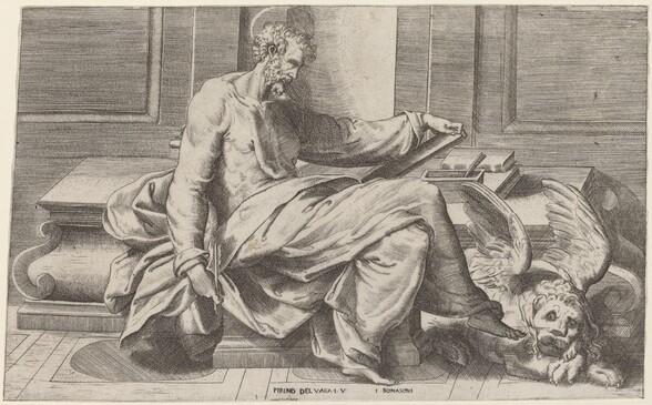 Saint Mark Writing His Gospels