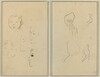 Five Studies of Heads; A Boy in Profile with Studies of Hands and Feet [verso]