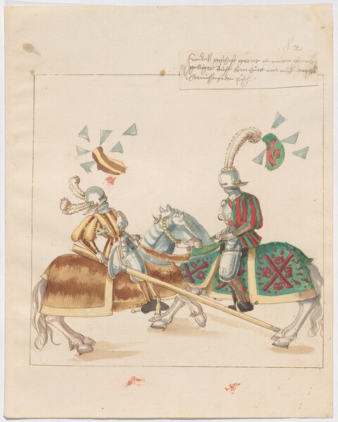 Freydal, The Book of Jousts and Tournaments of Emperor Maximilian I: Combats on Horseback (Jousts)(Volume I): Plate 73