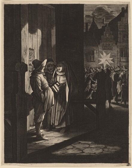 Jan van de Velde II, Pieter Molijn, The Star of Kings, a Night Piece, 16301630