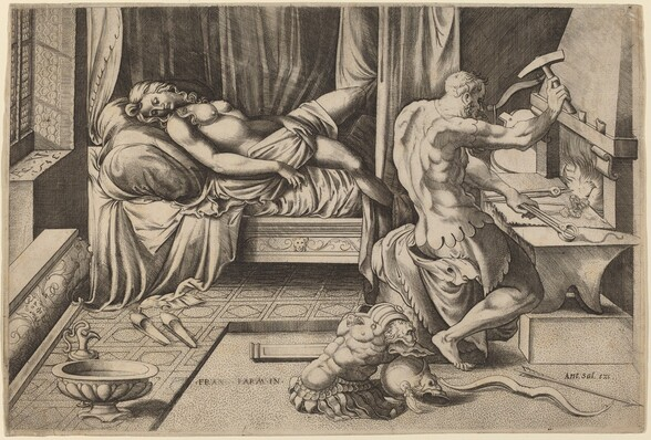 Venus Reclining with Vulcan at His Forge