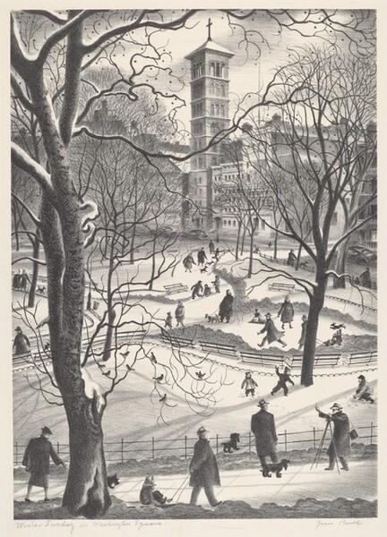 Winter Sunday in Washington Square