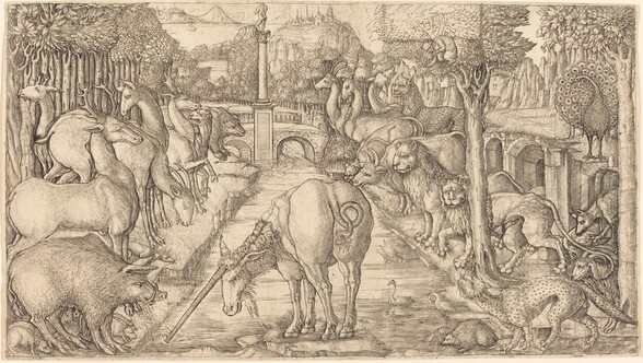 The Unicorn Purifies the Water with Its Horn