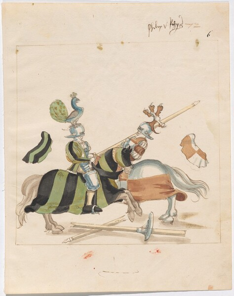 Freydal, The Book of Jousts and Tournaments of Emperor Maximilian I: Combats on Horseback (Jousts)(Volume I): Philip von Rechberg Plate 64