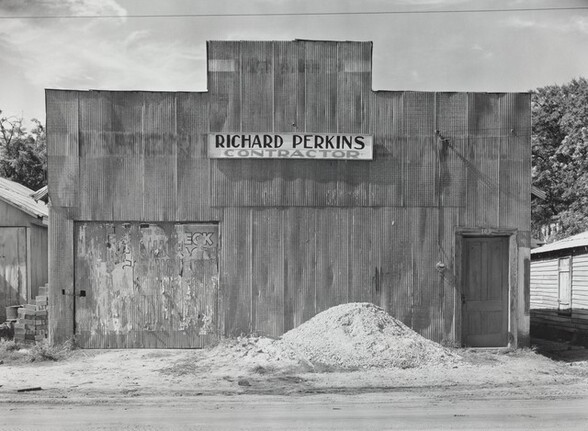 Tin False Front Building, Moundville, Alabama, 1936