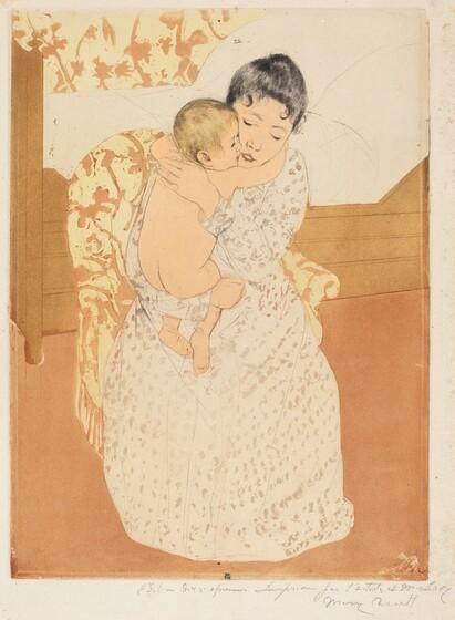 Mary Cassatt, Maternal Caress, 1890-1891