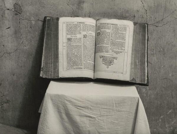 Hutterite Bible, west of Vermillion, South Dakota