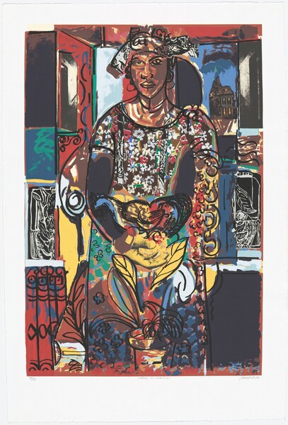 <p>David C. Driskell, Raven Editions, Curlee Raven Holton, Woman in Interior, 2008
