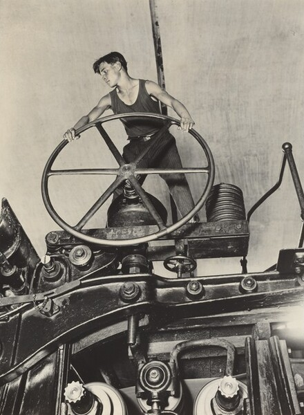 A Komsomol Youth at the Wheel