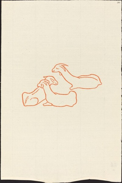 Second Book: Three Goats Resting, Fourth Plate (Trois chevreaux couches, quatrieme planche)