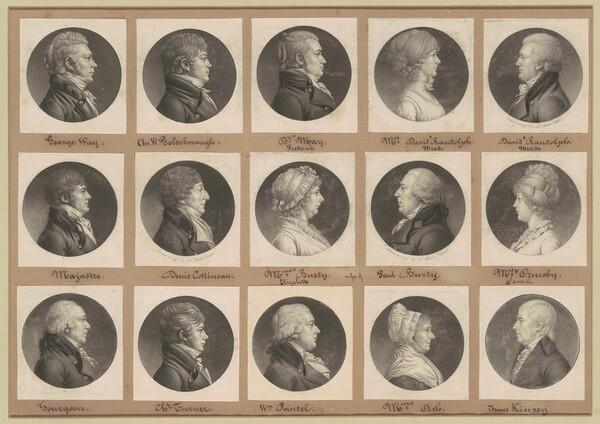 Saint-Mémin Collection of Portraits, Group 36
