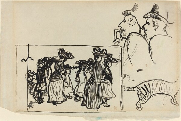 Sketches including A Promenade in Fancy Hats