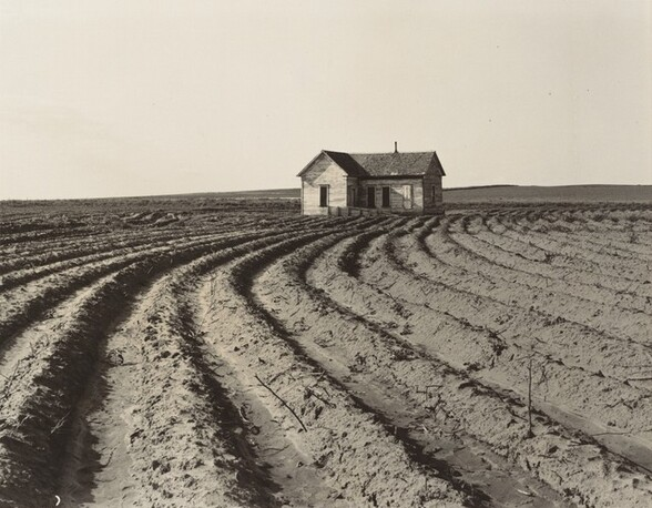 Power farming displaces tenants from the land in the western dry cotton area, Childress County, Texas