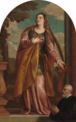 Saint Lucy and a Donor