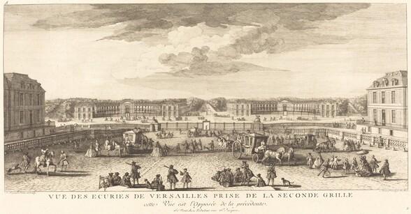 Vue des Ecuries de Versailles Prise de la Seconde Grille