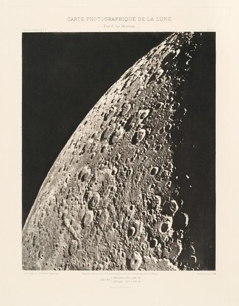 Carte photographique de la lune, planche V (Photographic Chart of the Moon, plate V)