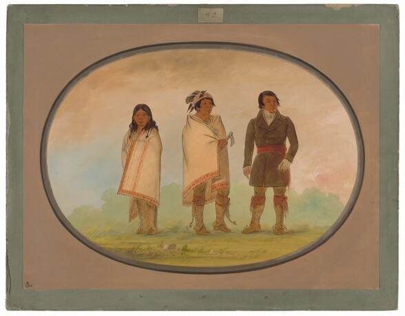 Oneida Chief, His Sister, and a Missionary