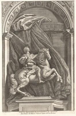 Francesco Faraone Aquila, Gian Lorenzo Bernini, Statue of Constantine, 1704-17421704-1742
