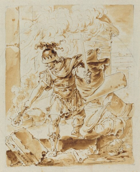 Alexander Setting Fire to Persepolis