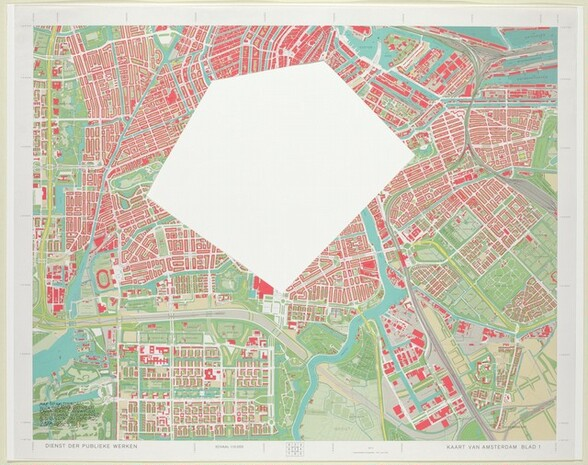 Map of Amsterdam with the Area between Emma-Plein, Europa-Plein, Ooster Park, Nieuwmarkt, and Bus Station Removed