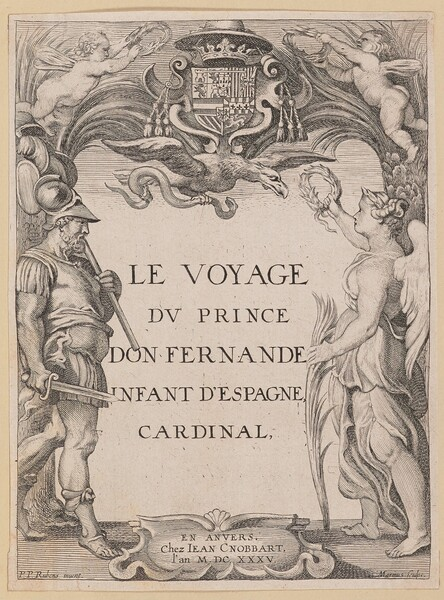 Title Page for Le Voyage Dv Prince Don Fernande Infant d