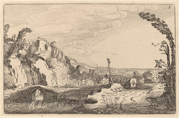 Cascade under a Stone Bridge
