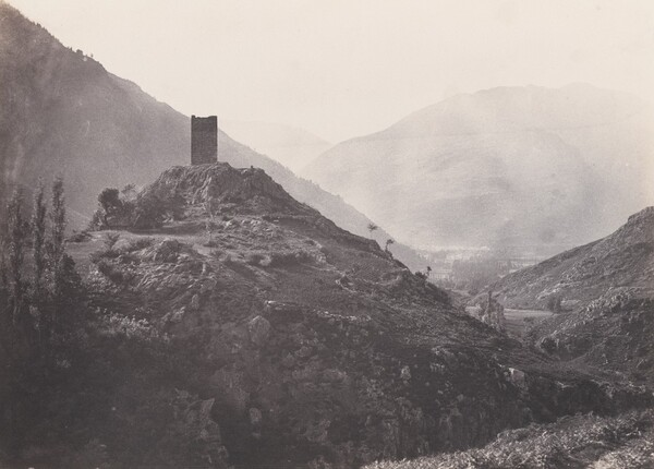 Bagnères-de-Luchon at the Foot of the Castel-Vielh Tower
